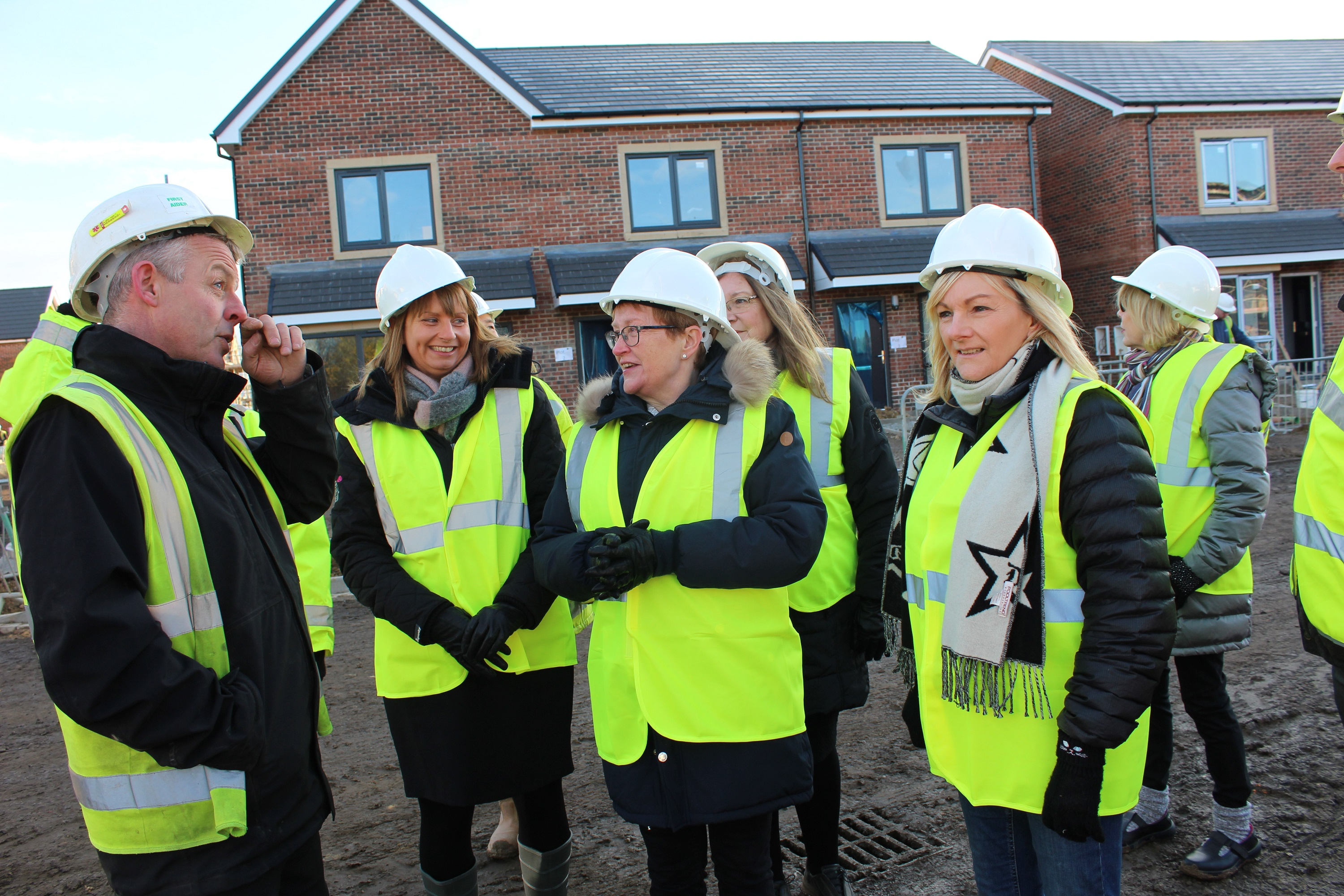 Board visit new homes - Railway Housing Association